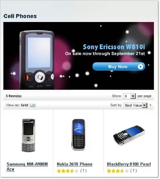 exemplo da loja demonstrativa do Magento - imagem: screencastworld.com
