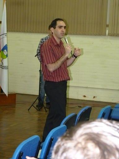 palestra sobre Magento Commerce na URCAMP - imagem: Juliana Soares