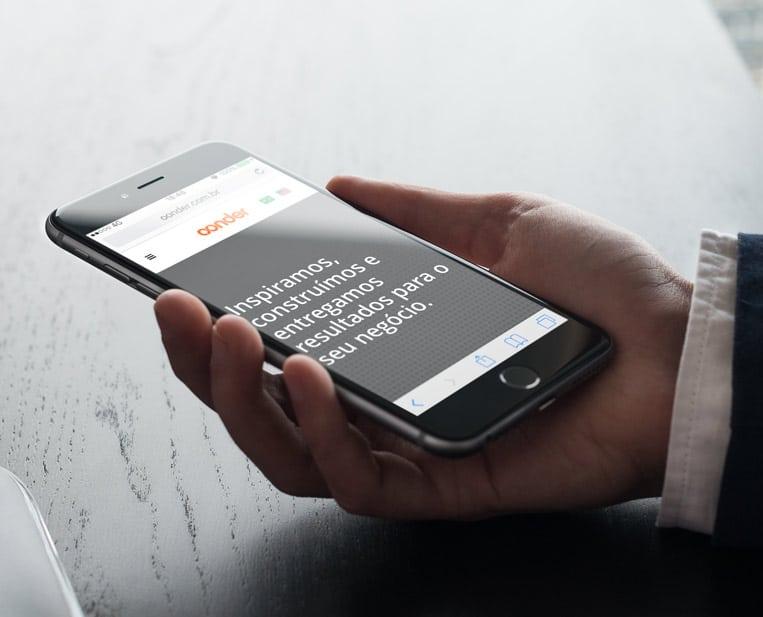 Case VitaminaWeb - Oonder - Website Institucional Mobile